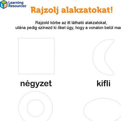Learning Resources fejlesztőfüzetek ingyenesen letölthető ovisoknak, iskolai előkészítő