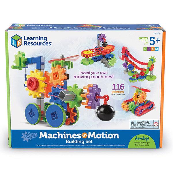 Machine Motion fogaskerekes gépépítő játék - Learning Resources Gears Gears Gears