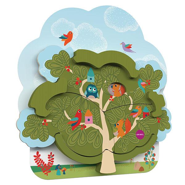 Oribel Vertiplay falijátékok matatófalhoz, Mr. Squirrel's house, mókuslak kétrétegű puzzle