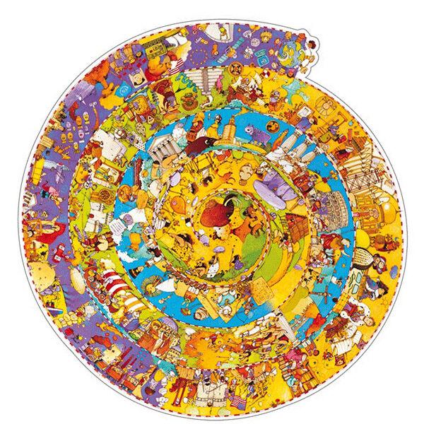 Djeco spirál puzzle - történelem