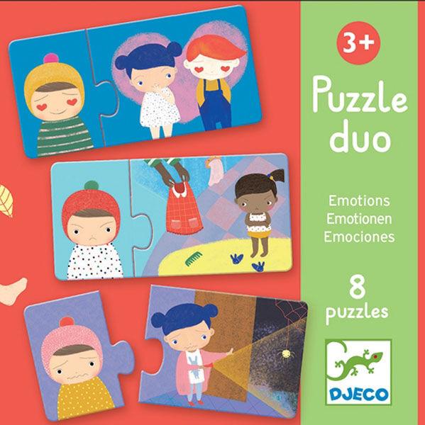 DJECO Duó Puzzle - Érzelmek