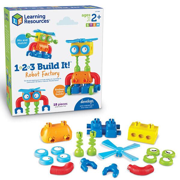 1-2-3 Build it robot építő játék Learning Resources