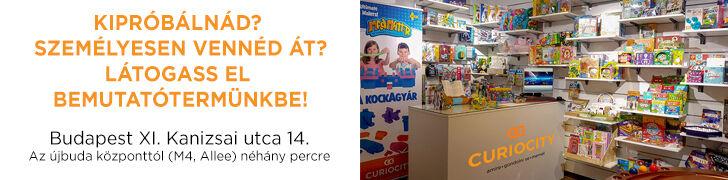 CURIOCITY Játék és Ajándék Webáruház Bemutatóterem és Átvevőpont, Budapest XI. Kanizsai utca 14.