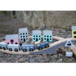 Kép 3/3 - Játékvonat pasztell játék - fajáték