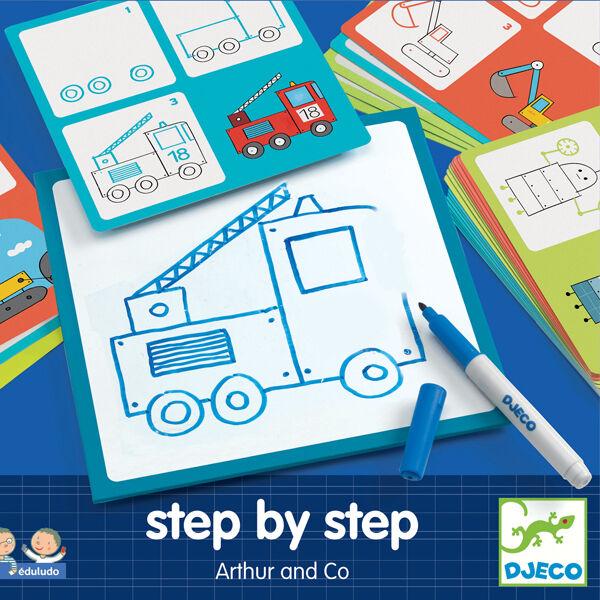 DJECO Step by step - Rajzoljunk! - Fiús rajzok