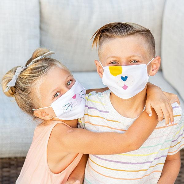 Gyerek szájmaszk (1 db) - kutyusos, cicás, rókicás