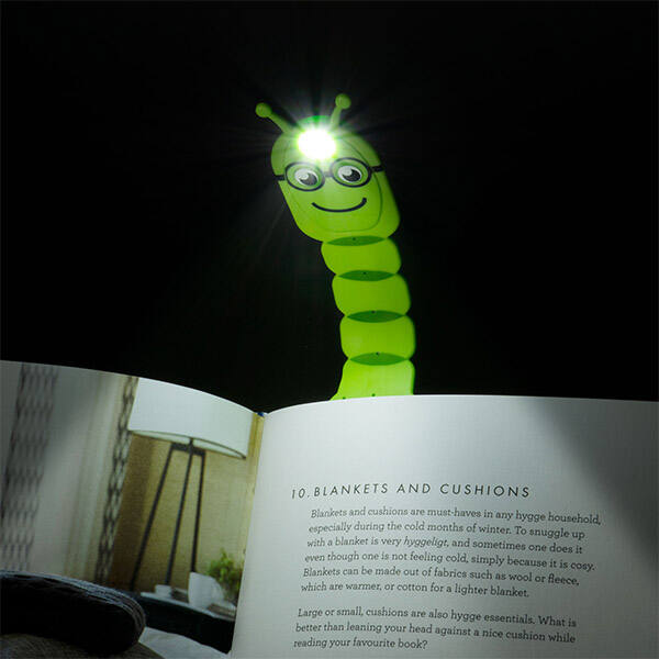 Könyvjelző olvasólámpa - Kukacos - Flexilight Bookworm Green