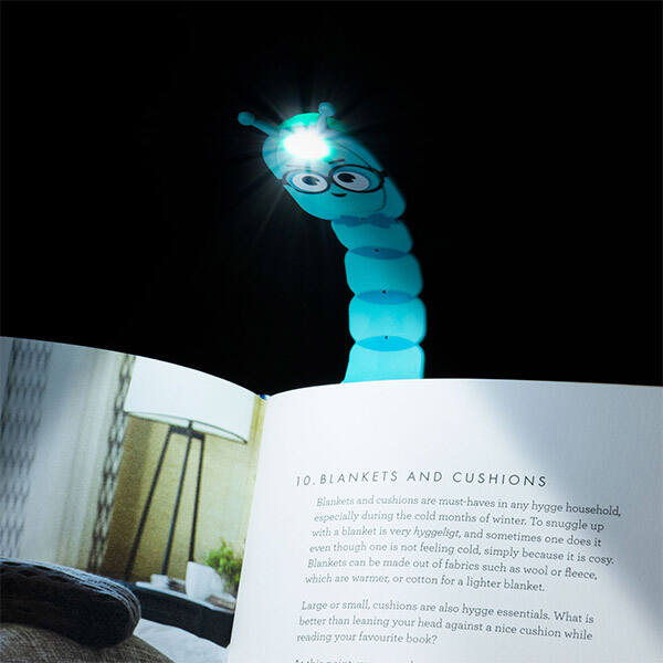 Könyvjelző olvasólámpa - Kukacos - Flexilight Bookworm Teal