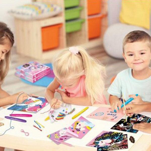 Kreativ készlet gyerekeknek 4 in 1