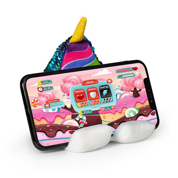 Unikornisos mobiltelefon támasz Plusheez Unicorn