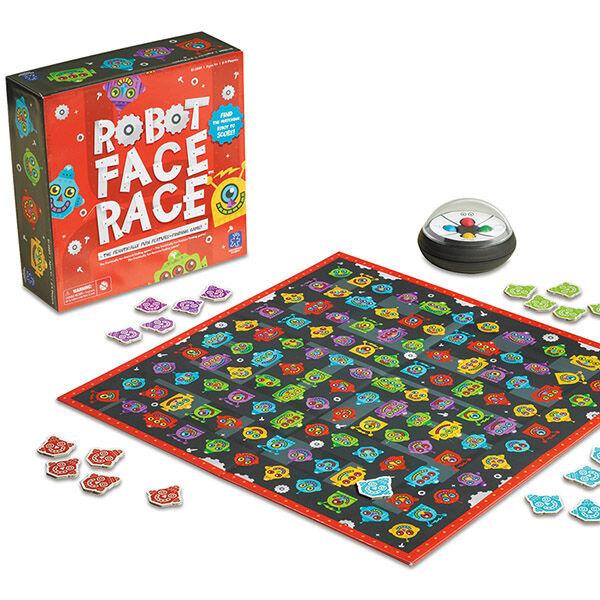 Robot Face Race megfigyelésen alapuló gyorsasági társasjáték