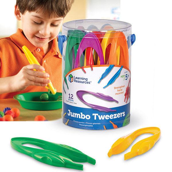 12 db Jumbo Tweezers - kézügyesség fejlesztő csipesz