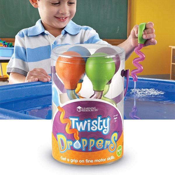 4 db Kézügyesség fejlesztő pipetta - Twisty Droppers