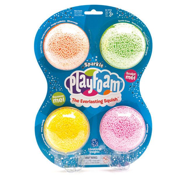 Csillám Playfoam habgyurma (4 db-os csomag)