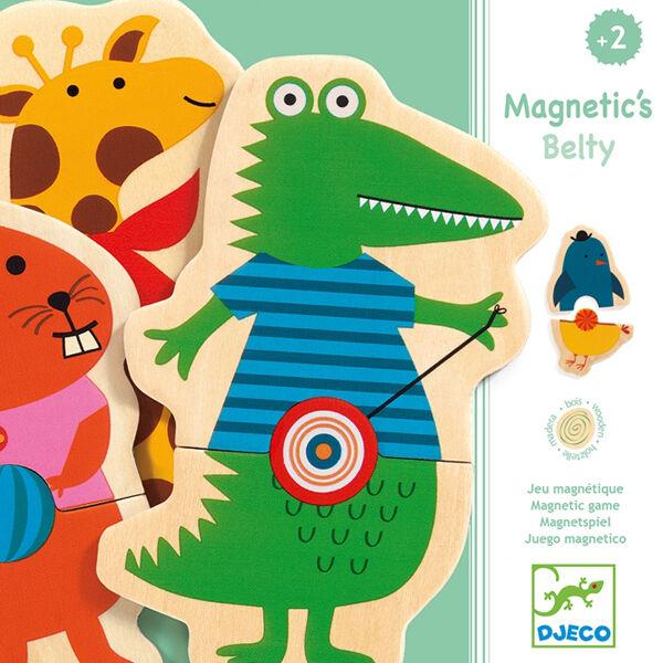 DJECO Mágneses képkirakó - Belty - állatok