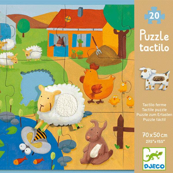 DJECO Óriás puzzle (12+8 db) - Tanya (tapintós puzzle)