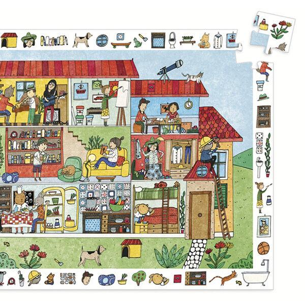 DJECO Megfigyelő puzzle  (35 db)- Teszvesz ház