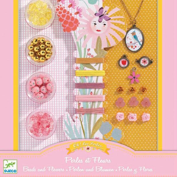 DJECO Ékszerkészító készlet - Gyöngyök és virágok
