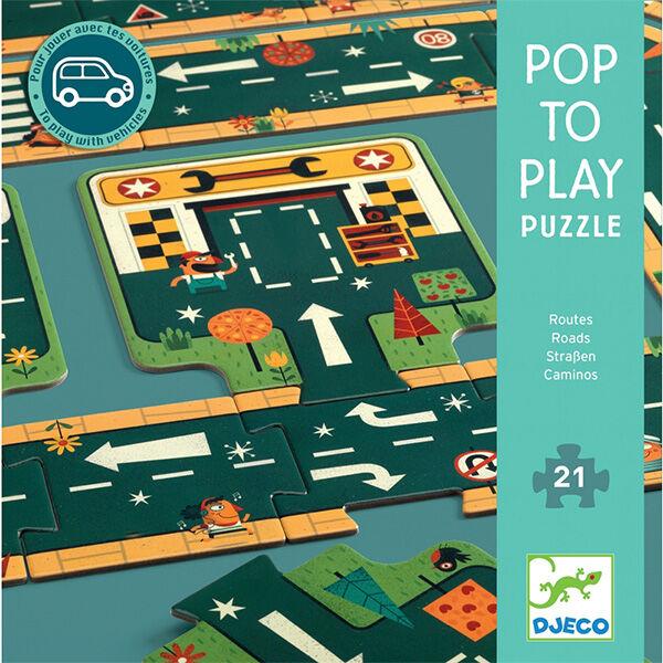 Játszószőnyeg puzzle Utak - Roads DJECO