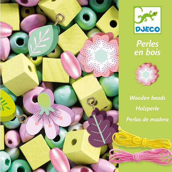 DJECO Fa gyöngyfűző készlet - Virágoskert