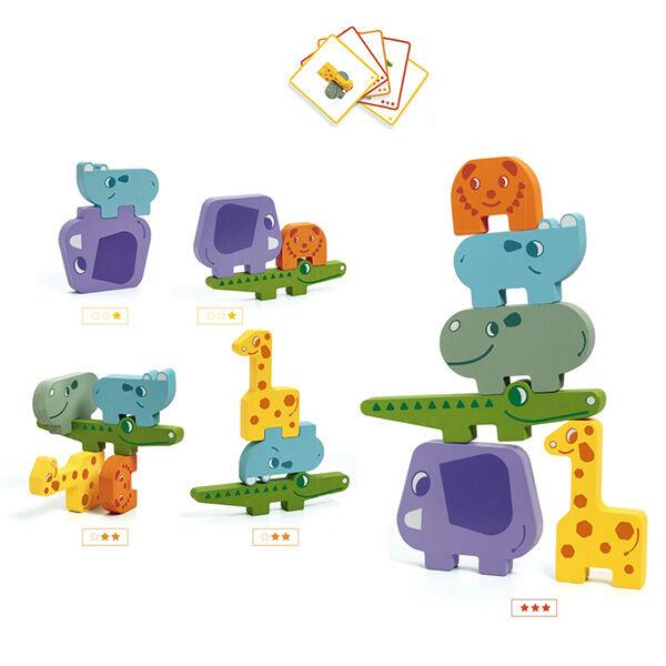 Djeco Fa egyensúlyozó játék - állatos