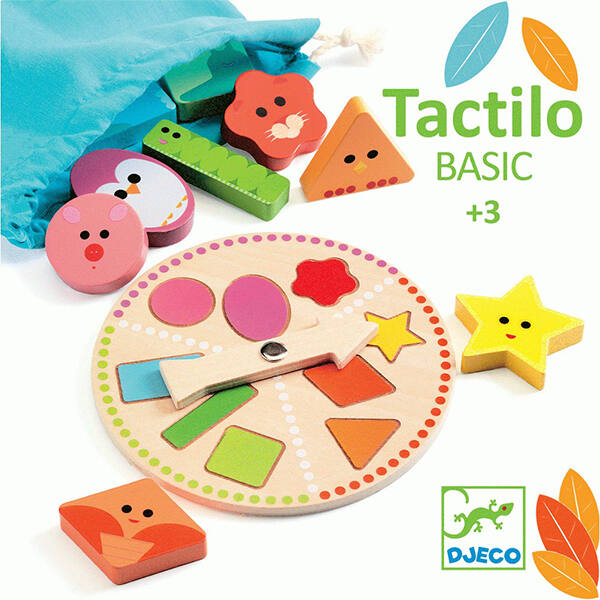 Tapintás fejlesztő játék fából, Djeco Tactilo Basic