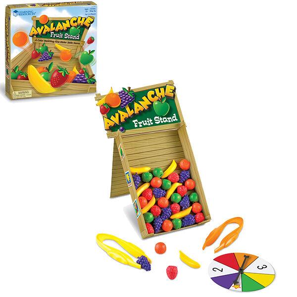 Gyümölcslavina ügyességi játék finommotorika fejlesztő csipesszel
