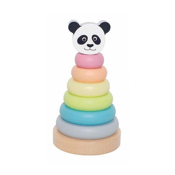 Montessori toronyépítő játék pandával JABADABADO