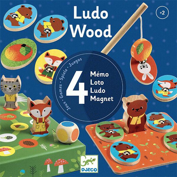 Társasjáték 2-3-4 éveseknek - Djeco Wood DJ1628
