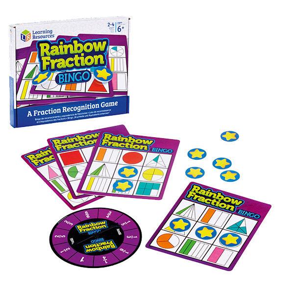 Törtek gyakorlása játékosan Learning Resources - Bingo Rainbow