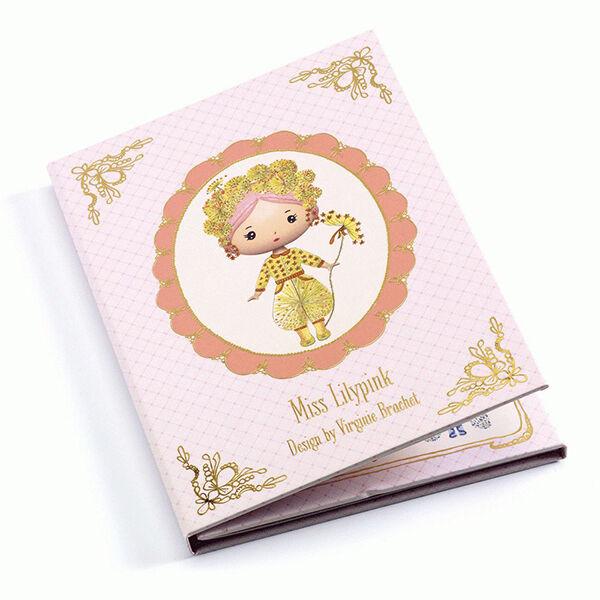 Djeco Tinyly - Miss Lilypink - újraragasztható matricás füzet